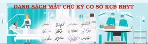 Danh mục chữ ký cơ sở KCB